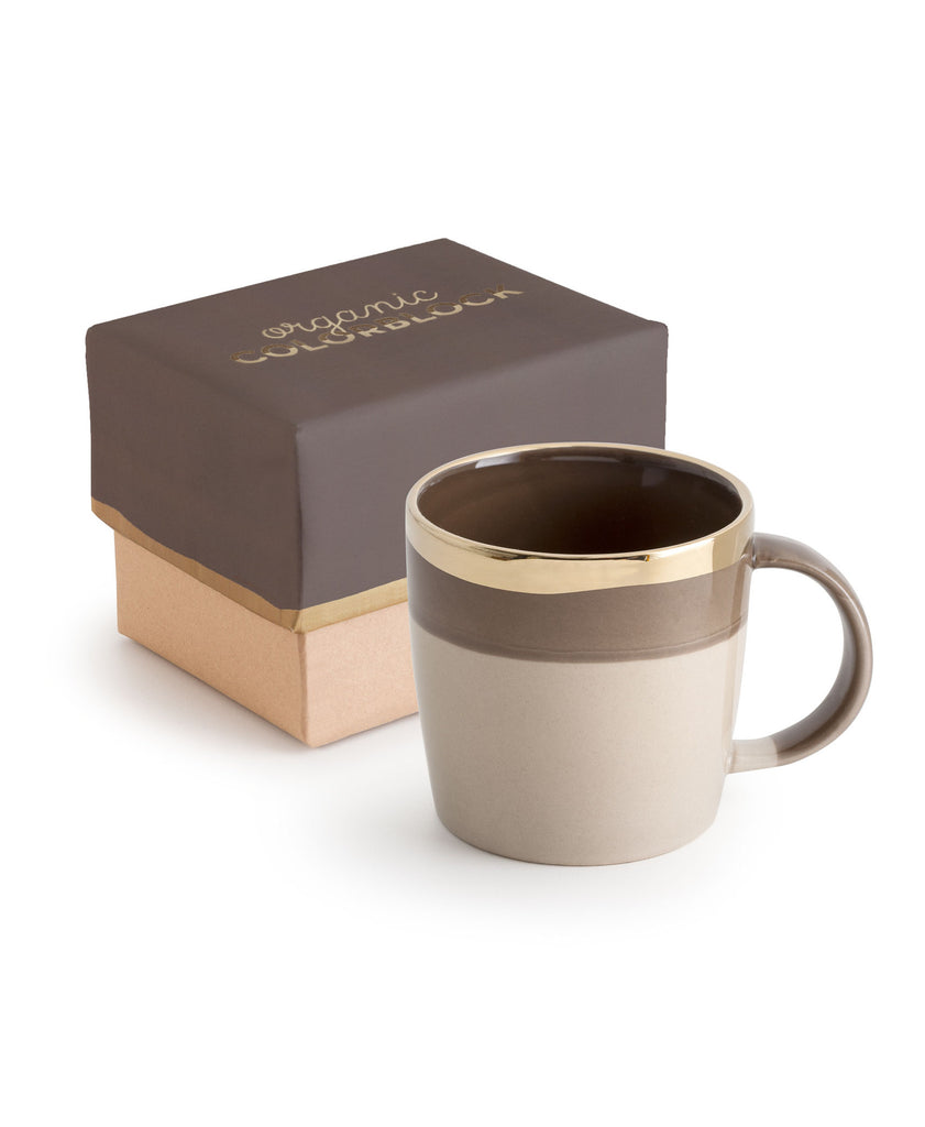 Organic Colorblock Mug Dark Gray