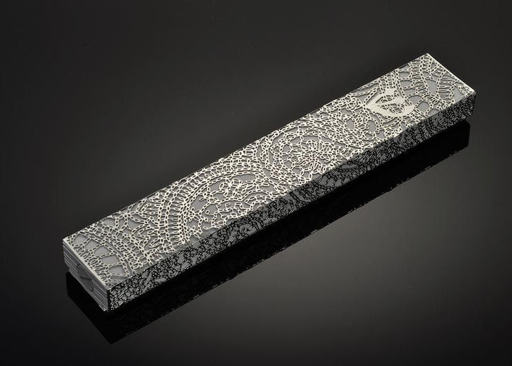 Metal Lace ornamented XL mezuzah