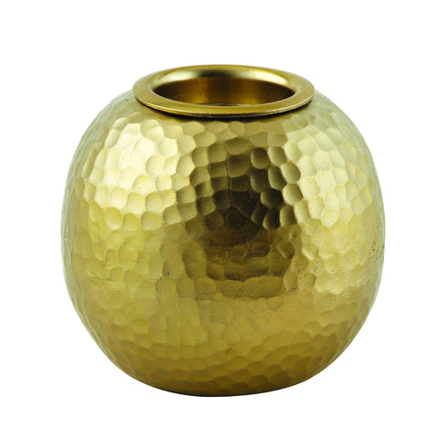 Soft gold tea light holder