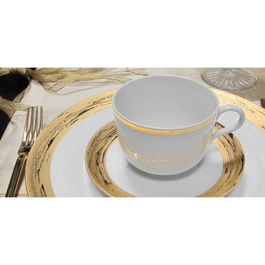 Argentatus and Auratus dinnerware by Porcel gold or silver