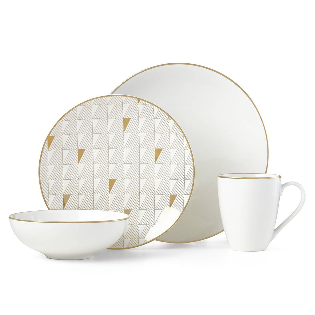 Trianna white 4 piece Dinnerware setting by lenox