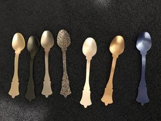 Teaspoons acrylic - variety of colors