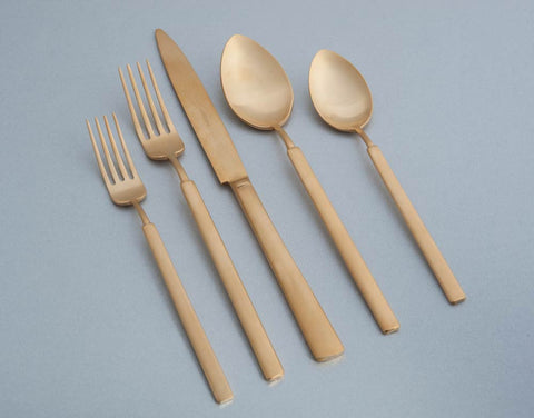 5 Piece Place Setting Vintage-Gold Matte by Herdmar/ Pickard