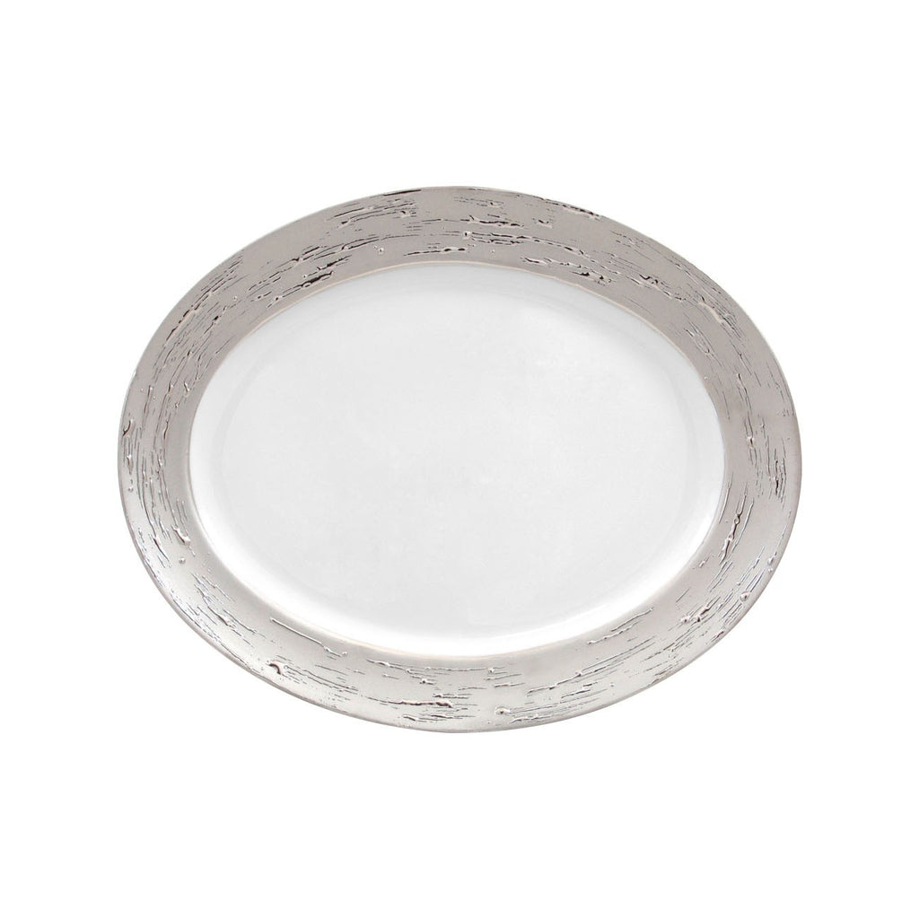 Argentatus and Auratus dinnerware by Porcel gold or silver – onetabletop