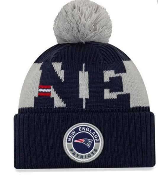 New England Patriots New Era removable pom pom hat