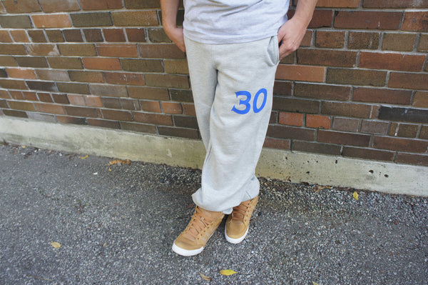 Adult 30 Sweatpant (Grey with Blue)