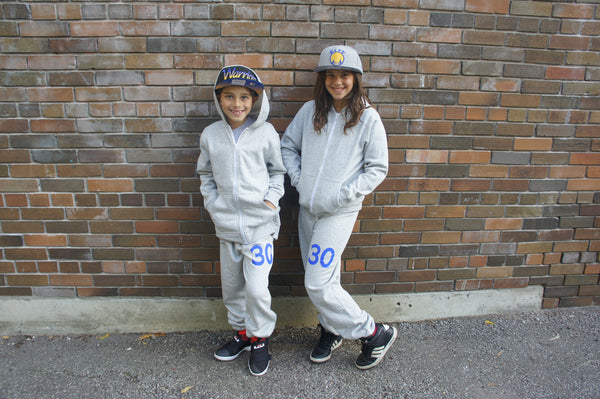 30 Youth Sweatpant (Grey with Blue)