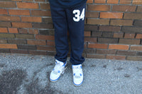 34 Youth Sweatpant (navy and white)