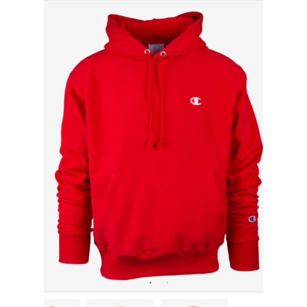 Men's Champion Reverse Weave Hoodie - Red