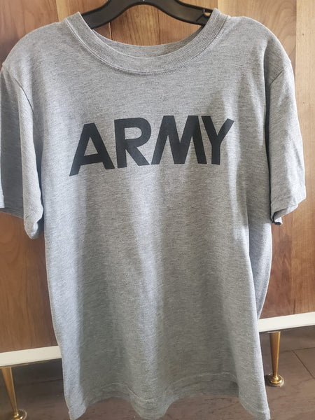Loose Fit Army Tee- Adult Small