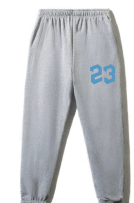 23 Youth Sweatpants (Grey with Blue)