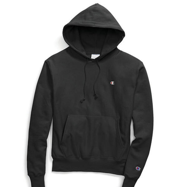 Men's Champion Reverse Weave Hoodie - Black