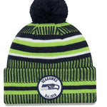 Seattle Seahawks New Era removable pom pom hat