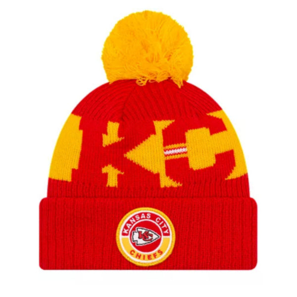 Kansas City Chiefs New Era removable pom pom toque