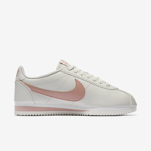 "Classic Cortez Leather ""Light Bone & Particle Pink"""