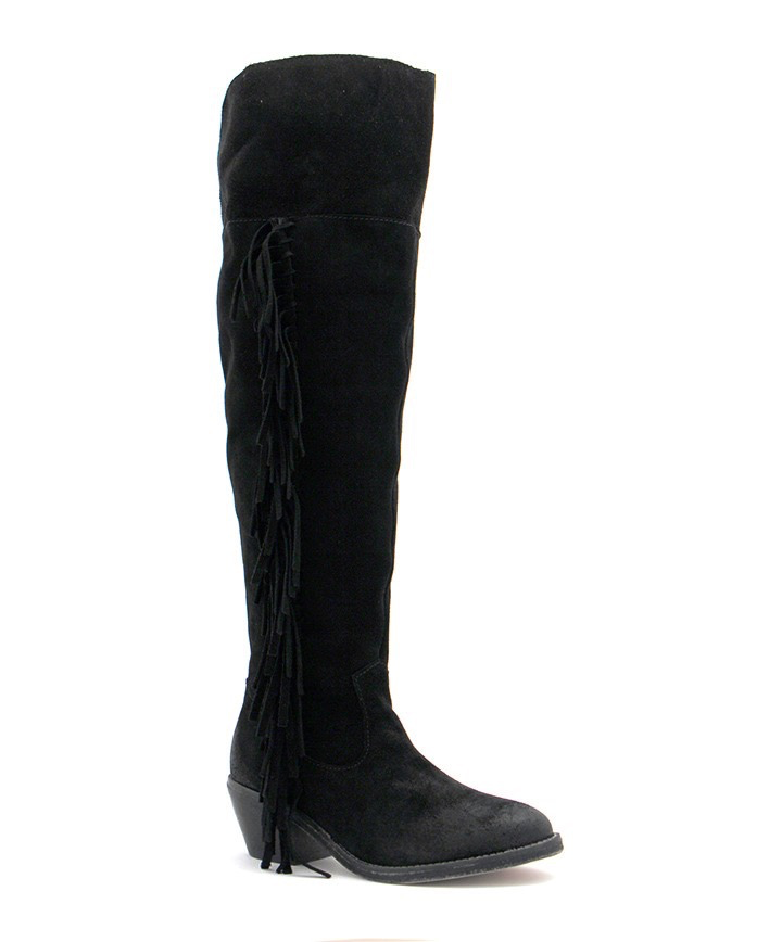 Ladies Circle G Women\'s Over-The-Knee Side Fringe Boots – Pearl Snaps