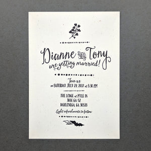 Offbeat Bride Wedding Invitation