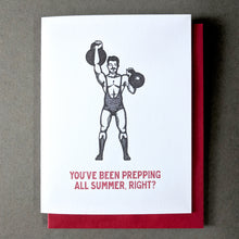 Circus Strongman Back to School Card