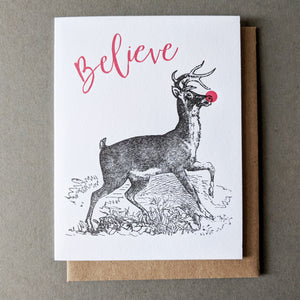 Believe Reindeer: Christmas Cards