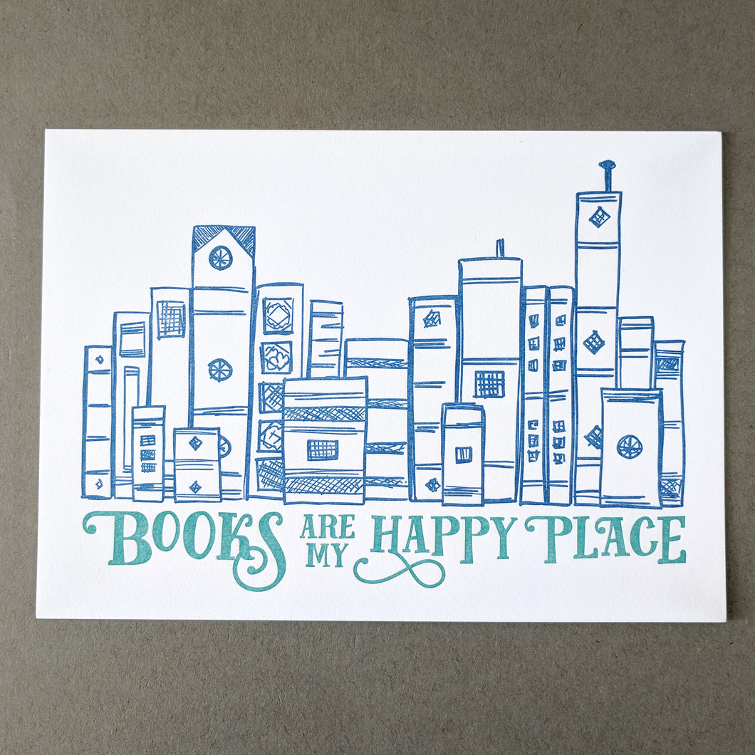 Books Are My Happy Place Art Print