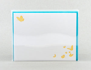 Butterfly Note cards: Letterpress Thank You Cards