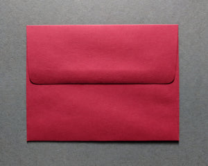 Tulip Thank You Notecard Set: Red Envelopes