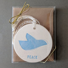 Peace Dove: Christmas Ornament Tags