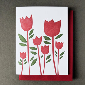 Tulip Thank You Notecard: Red Envelope