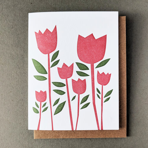Tulip Thank You Notecard: Kraft Envelope