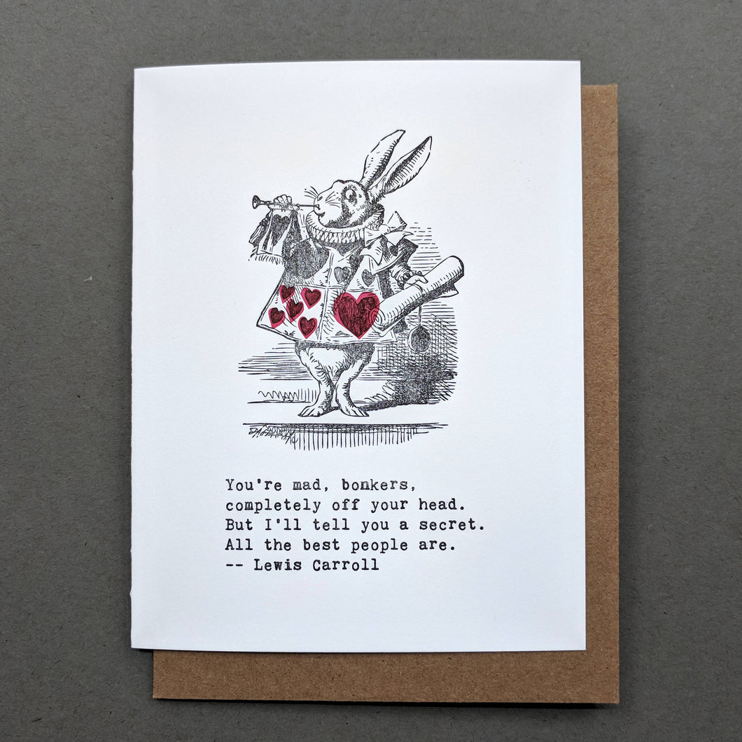 Love Letters: Alice in Wonderland Lewis Carroll Valentines Card