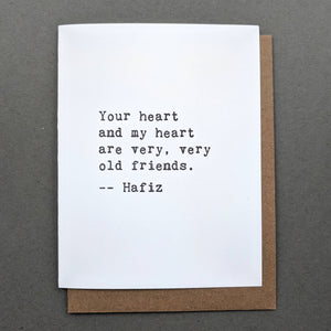 Love Letters: Hafiz Valentines Card