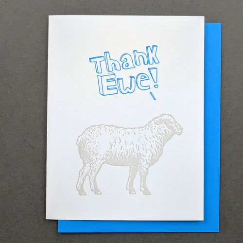 Thank Ewe: Thank You card