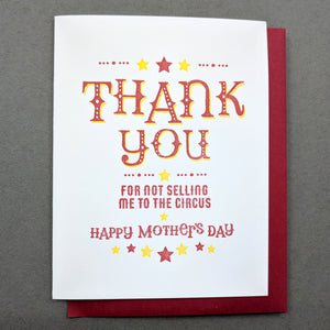 Mothers Day Card: Circus Mothers Day Card