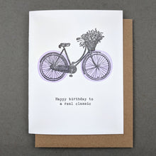 Happy birthday to a real classic : birthday card mum
