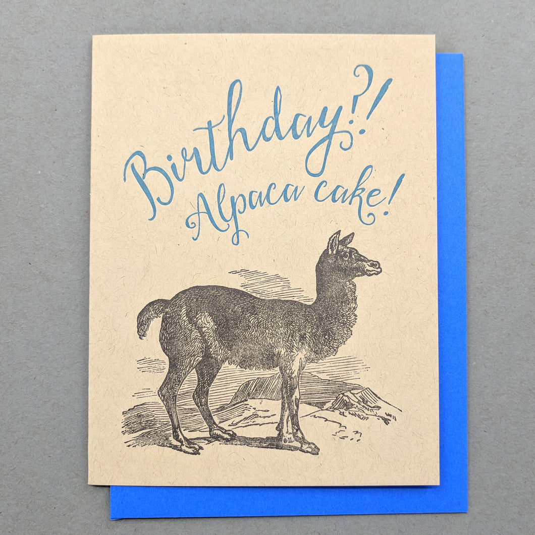 Birthday? Alpaca Cake! Happy Birthday Card