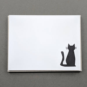 Cat Note cards: Letterpress Thank You Cards