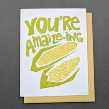 You're Amaize-ing (You Are Amazing) Thank You Card | Encouragement Card | Birthday Card | Handmade Letterpress Greeting Card