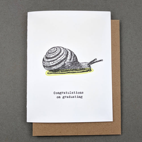 Congratulations on graduating : snail mail