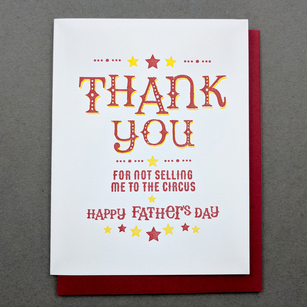 Circus Fathers Day Card