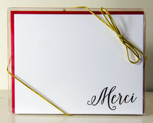 Merci Note cards