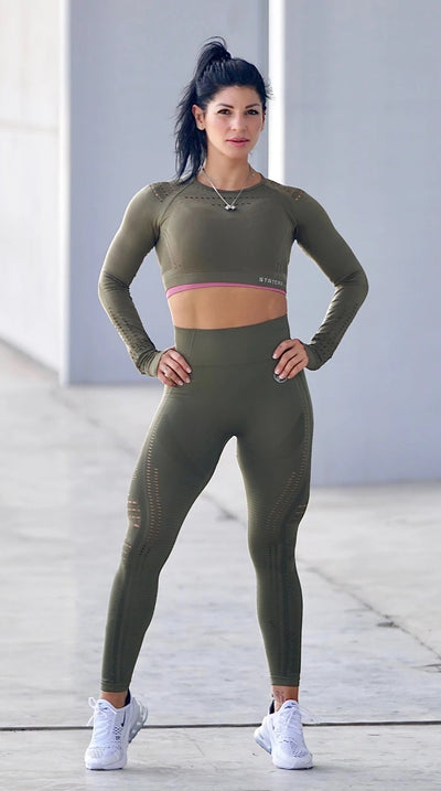 Elite Green Seamless - LEGGINGS - Statera Apparel