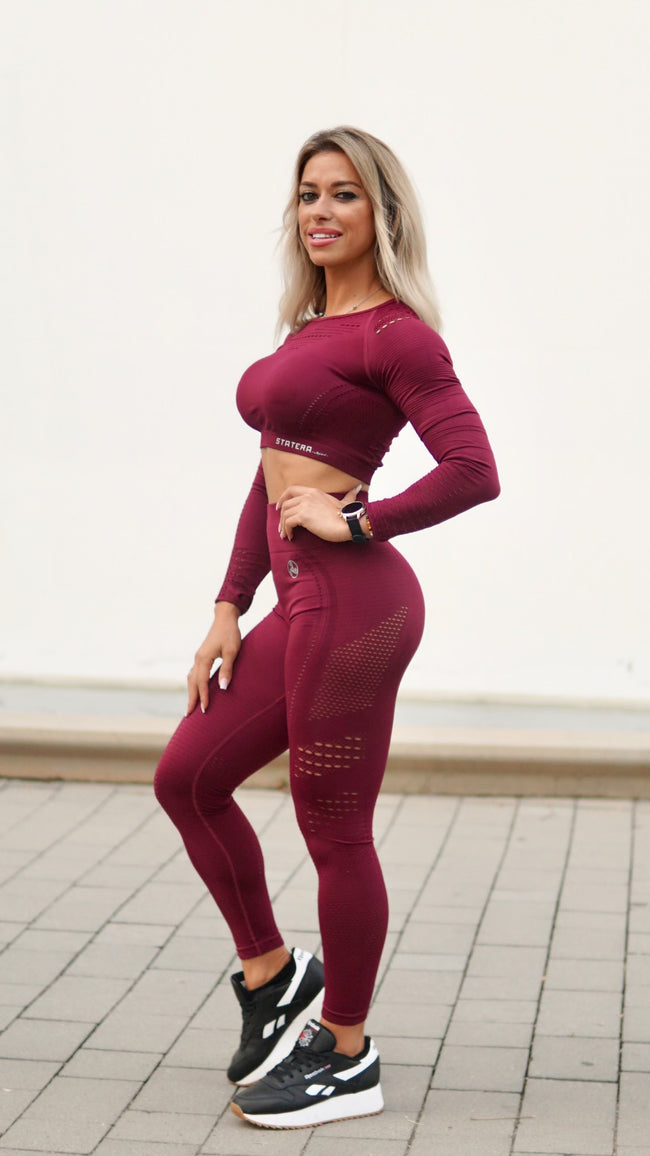 Elite Garnet Seamless - LEGGINGS - Statera Apparel