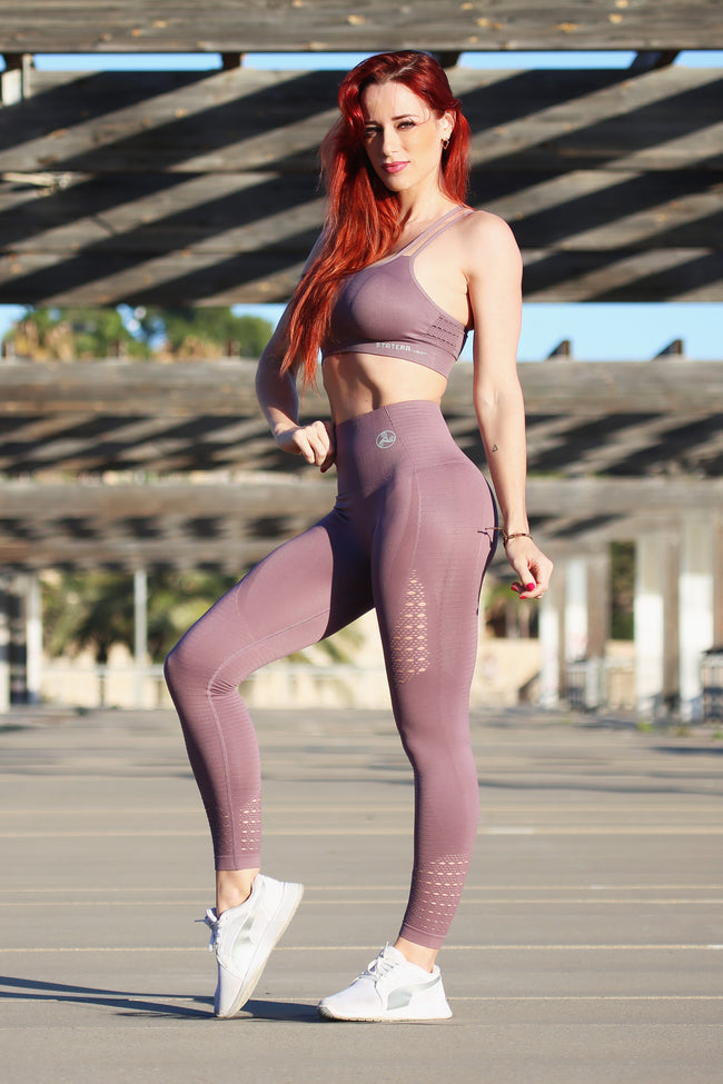 Air Dark Purple Seamless - LEGGINGS