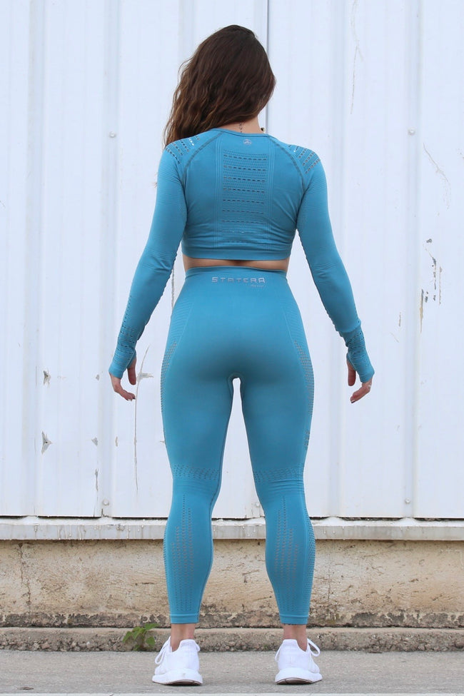 Elite Blue Seamless - LEGGINGS