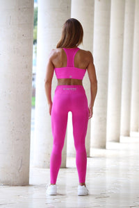 PINK SEAMLESS HIGH WAISTED - Leggings