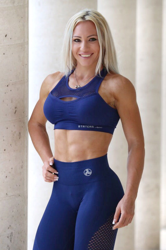 Blue Seamless- SPORT BRA - Statera Apparel