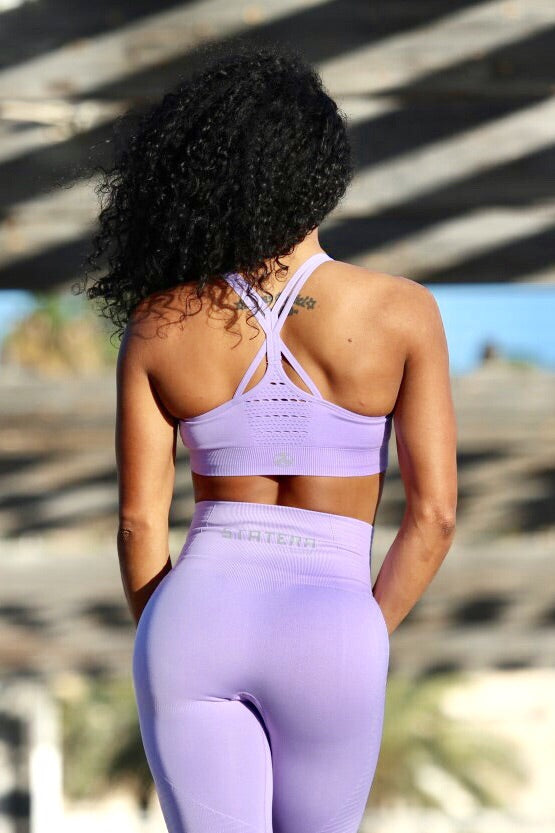 LIGHT PURPLE SEAMLESS - Sport Bra - Statera Apparel