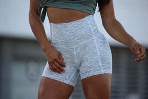 Shorts White Sense - LEGGINGS - Statera Apparel