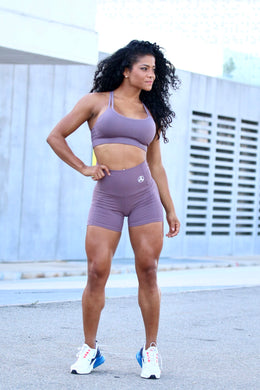Shorts Purple Sense - LEGGINGS - Statera Apparel