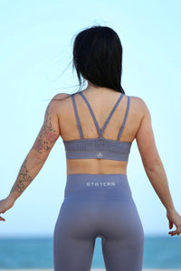 GRAY SEAMLESS - Sport Bra - Statera Apparel